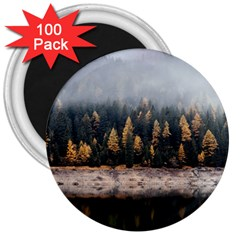 Trees Plants Nature Forests Lake 3  Magnets (100 Pack)