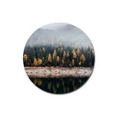 Trees Plants Nature Forests Lake Magnet 3  (round)