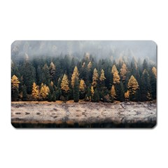 Trees Plants Nature Forests Lake Magnet (rectangular)