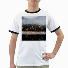 Trees Plants Nature Forests Lake Ringer T Shirts