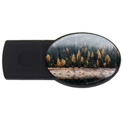 Trees Plants Nature Forests Lake Usb Flash Drive Oval (4 Gb)