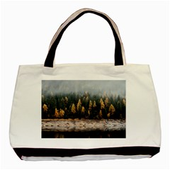 Trees Plants Nature Forests Lake Basic Tote Bag