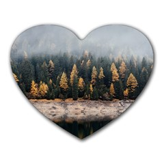 Trees Plants Nature Forests Lake Heart Mousepads