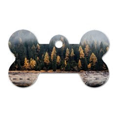 Trees Plants Nature Forests Lake Dog Tag Bone (one Side)