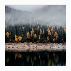Trees Plants Nature Forests Lake Medium Glasses Cloth (2 Side)