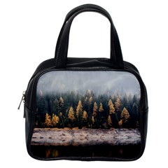 Trees Plants Nature Forests Lake Classic Handbags (one Side)