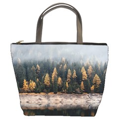 Trees Plants Nature Forests Lake Bucket Bags