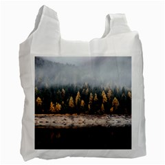 Trees Plants Nature Forests Lake Recycle Bag (one Side)
