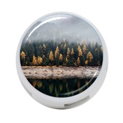 Trees Plants Nature Forests Lake 4 Port Usb Hub (one Side)
