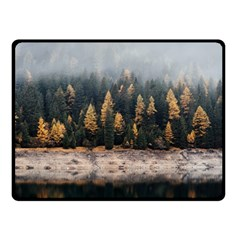 Trees Plants Nature Forests Lake Fleece Blanket (small)