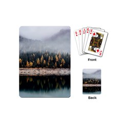 Trees Plants Nature Forests Lake Playing Cards (mini)