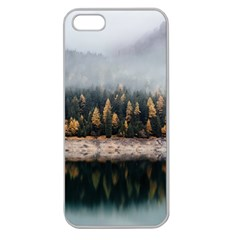 Trees Plants Nature Forests Lake Apple Seamless Iphone 5 Case (clear)