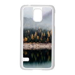 Trees Plants Nature Forests Lake Samsung Galaxy S5 Case (white)