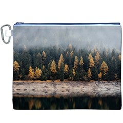 Trees Plants Nature Forests Lake Canvas Cosmetic Bag (xxxl)