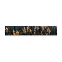 Trees Plants Nature Forests Lake Flano Scarf (mini)