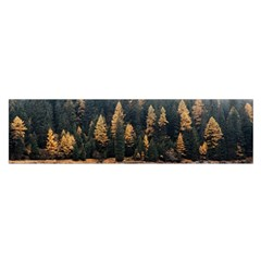 Trees Plants Nature Forests Lake Satin Scarf (oblong)
