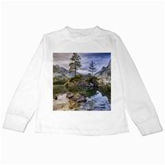 Hintersee Ramsau Berchtesgaden Kids Long Sleeve T Shirts