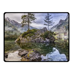 Hintersee Ramsau Berchtesgaden Double Sided Fleece Blanket (small)