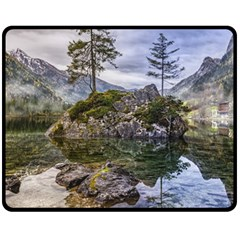 Hintersee Ramsau Berchtesgaden Double Sided Fleece Blanket (medium)