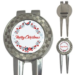 Merry Christmas Christmas Greeting 3 In 1 Golf Divots