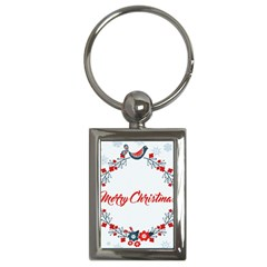 Merry Christmas Christmas Greeting Key Chains (rectangle)