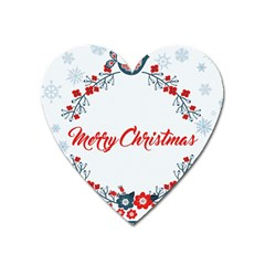 Merry Christmas Christmas Greeting Heart Magnet