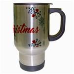 Merry Christmas Christmas Greeting Travel Mug (Silver Gray) Right