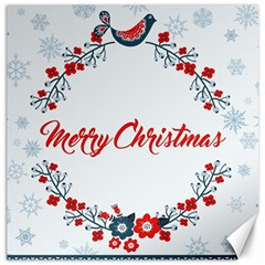 Merry Christmas Christmas Greeting Canvas 12  X 12