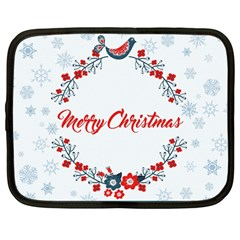 Merry Christmas Christmas Greeting Netbook Case (large)