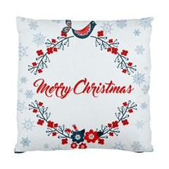 Merry Christmas Christmas Greeting Standard Cushion Case (one Side)
