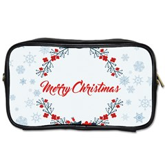 Merry Christmas Christmas Greeting Toiletries Bags 2 Side