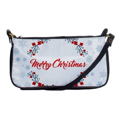 Merry Christmas Christmas Greeting Shoulder Clutch Bags