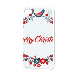 Merry Christmas Christmas Greeting Apple Iphone 4 Case (white)