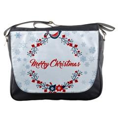 Merry Christmas Christmas Greeting Messenger Bags