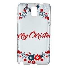 Merry Christmas Christmas Greeting Samsung Galaxy Note 3 N9005 Hardshell Case