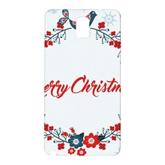 Merry Christmas Christmas Greeting Samsung Galaxy Note 3 N9005 Hardshell Back Case