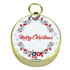 Merry Christmas Christmas Greeting Gold Compasses