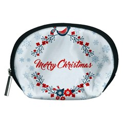 Merry Christmas Christmas Greeting Accessory Pouches (medium)
