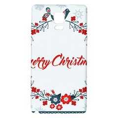 Merry Christmas Christmas Greeting Galaxy Note 4 Back Case