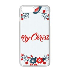 Merry Christmas Christmas Greeting Apple Iphone 8 Plus Seamless Case (white)