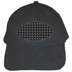 Kaleidoscope Seamless Pattern Black Cap