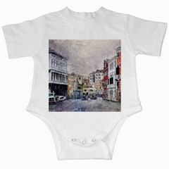 Venice Small Town Watercolor Infant Creepers