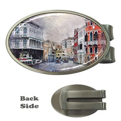 Venice Small Town Watercolor Money Clips (oval)