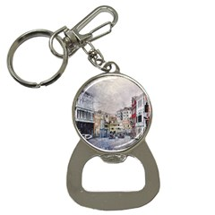 Venice Small Town Watercolor Button Necklaces