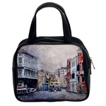 Venice Small Town Watercolor Classic Handbags (2 Sides) Front