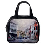 Venice Small Town Watercolor Classic Handbags (2 Sides) Back