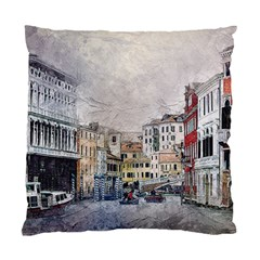 Venice Small Town Watercolor Standard Cushion Case (two Sides)