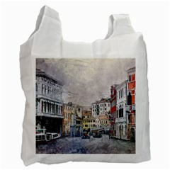 Venice Small Town Watercolor Recycle Bag (one Side)
