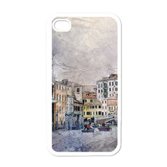 Venice Small Town Watercolor Apple Iphone 4 Case (white)