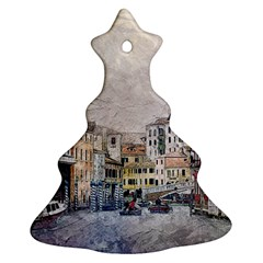Venice Small Town Watercolor Christmas Tree Ornament (two Sides)